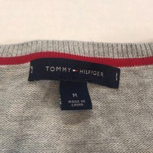 Tommy Hilfiger Sweaters - ☕️Tommy Hilfiger Gray w/ Blue Polka Dots Cardigan